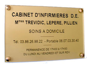 Plaque laiton poli mirroir