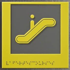 Plaque Braille ascenceur