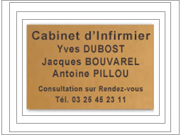 plaque  50x30cm
