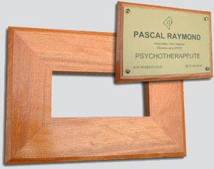Support plaque bois exotique