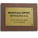 Support plaque professionnelle plexiglass