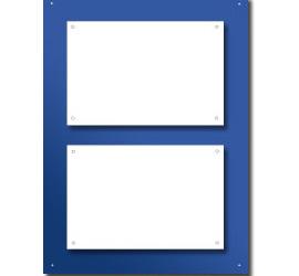 Support plexi couleur pour 2 plaques 30x20