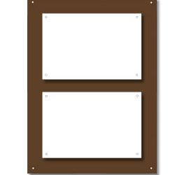 Support plexi fumé pour<br>2 plaques 30x20