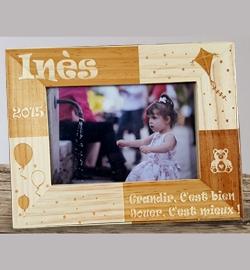 Cadre bois décor ''Enfant''