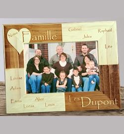 Cadre bois décor ''Famille''