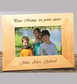 Cadre bois décor ''Message''