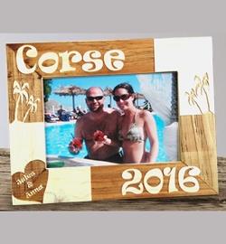 Cadre bois décor ''Vacances''