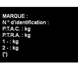 Plaque transformation Alu anodisé  15x10 cm -150 cm² 6 lignes de Texte