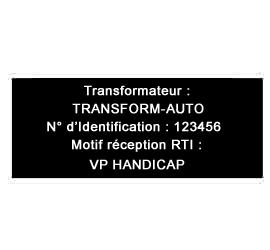 Plaque de Transformation Alu anodisé 10x5 cm ou -50 cm² 6 lignes de Texte