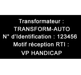 Plaque de Transformation Alu anodisé 10x7cm ou -70 cm² 6 lignes de Texte