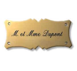 Plaque de porte Laiton massif - 22097