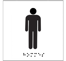 Plaque WC Braille Homme