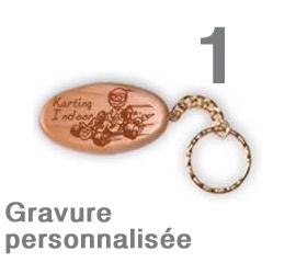Porte clef personnalisé ovale