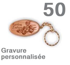 Lot de 50 porte-clef  personnalisés ovales