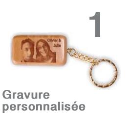 Porte clef personnalisé rectangulaire
