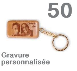 Lot de 50 porte-clef  personnalisés rectangulaires