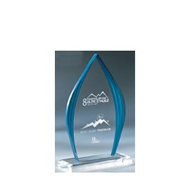 Trophée plexiglass Transparent ''luxe'' 160-01