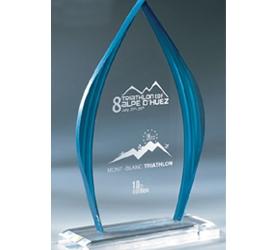 Trophée plexiglass Transparent ''luxe'' 160-03