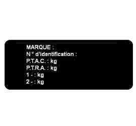 Sticker plaque Constructeur Acrylique 10 x 5cm ou surface de 1 à 50 cm²