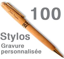 Lot de 100 Stylos<br>personnalisés