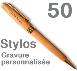 Lot de 50 Stylos<br> personnalisés