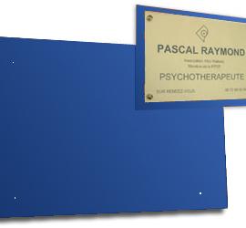 Support plexi couleur pour plaque 30x20