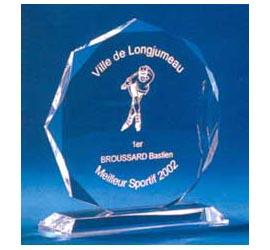 Trophée plexiglass Transparent ''luxe'' 117-43