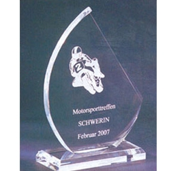 Trophée plexiglass Transparent ''luxe'' 116-63