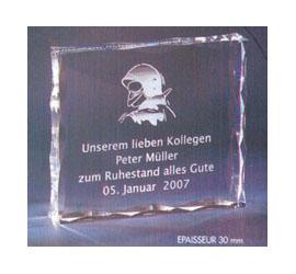 Trophée plexiglass Transparent ''luxe'' 118-81