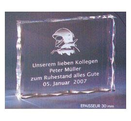 Trophée Transparent ''luxe'' 118-82