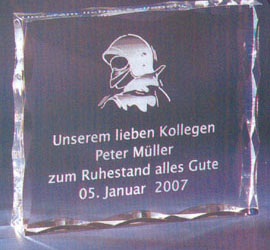 Trophée plexiglass Transparent ''luxe'' 118-83