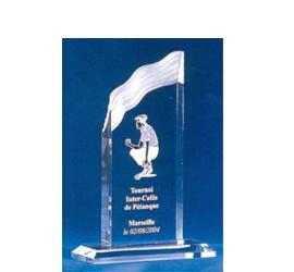 Trophée plexiglass Transparent ''luxe'' 119-52