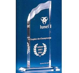 Trophée plexiglass Transparent ''luxe'' 119-53