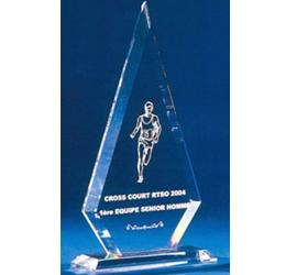 Trophée plexiglass Transparent ''luxe'' 120-03