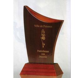Trophée imitation Acajou ''luxe'' 127-32