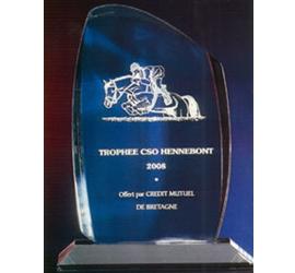 Trophée plexiglass Transparent  bleuté ''luxe'' 130-23