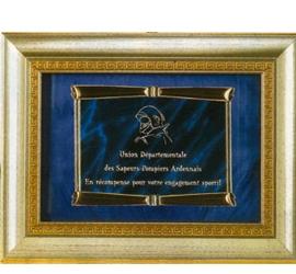 Plaque trophée avec encadrement luxe'' 141-41