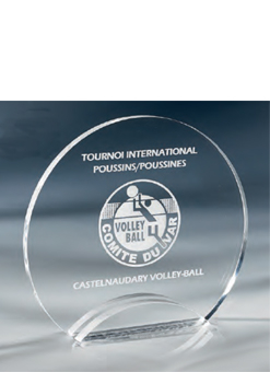 Trophée plexiglass Transparent ''luxe'' 175-43