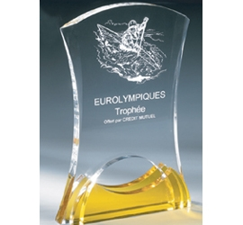 Trophée plexiglass Transparent ''luxe'' 161-03