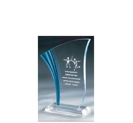 Trophée plexiglass Transparent ''luxe'' 162-21