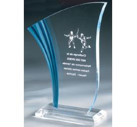 Trophée plexiglass Transparent ''luxe'' 162-23