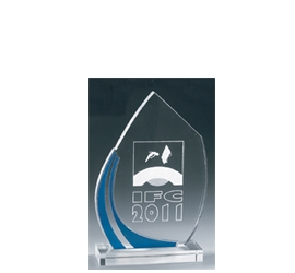 Trophée plexiglass Transparent ''luxe'' 162-61