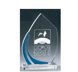 Trophée plexiglass Transparent ''luxe'' 162-62