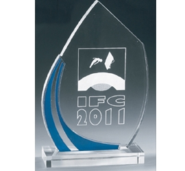 Trophée plexiglass Transparent ''luxe'' 162-63