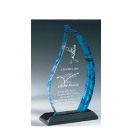 Trophée plexiglass Transparent ''luxe'' 163-02