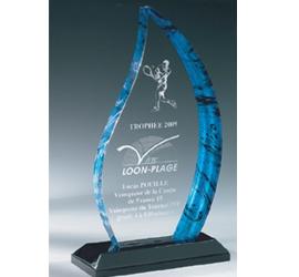 Trophée plexiglass Transparent ''luxe'' 163-03