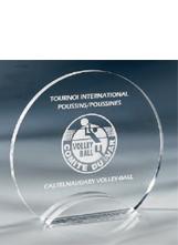 Trophée plexiglass Transparent ''luxe'' 175-41