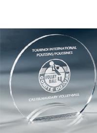 Trophée plexiglass Transparent ''luxe'' 175-42
