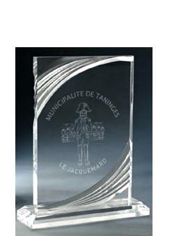 Trophée plexiglass Transparent ''luxe'' 181-41