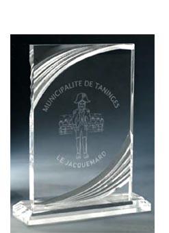 Trophée plexiglass Transparent ''luxe'' 181-42